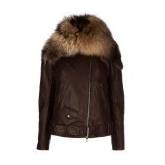 BALMAIN Fur-Leather Motorcycle Jacket RIHANNA loves!