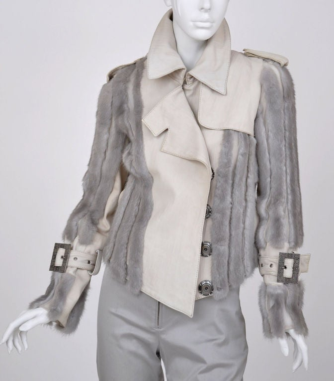 Christian Dior mink fur and lambskin jacket image 2