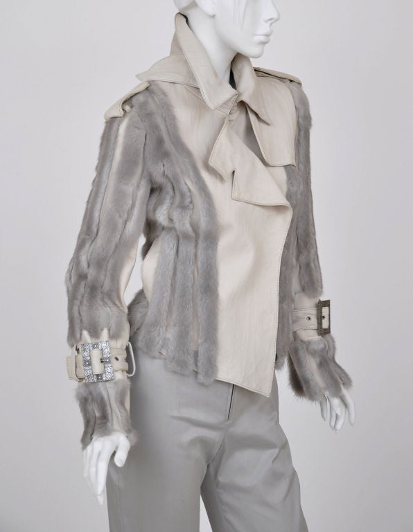 Christian Dior mink fur and lambskin jacket image 3