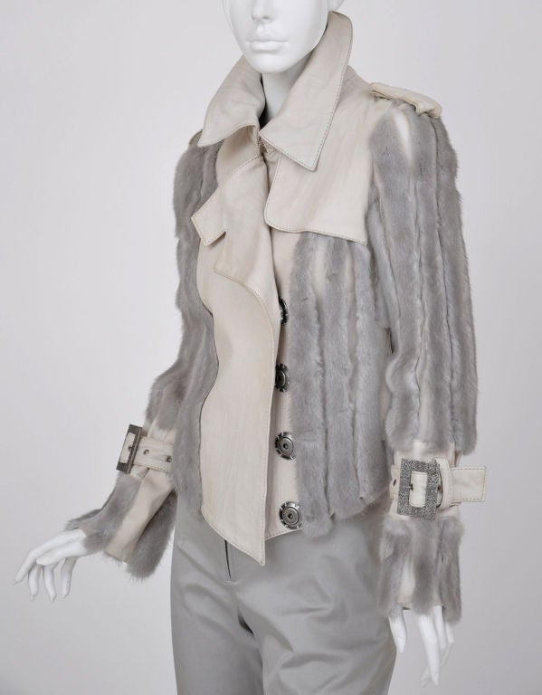 Christian Dior mink fur and lambskin jacket image 4