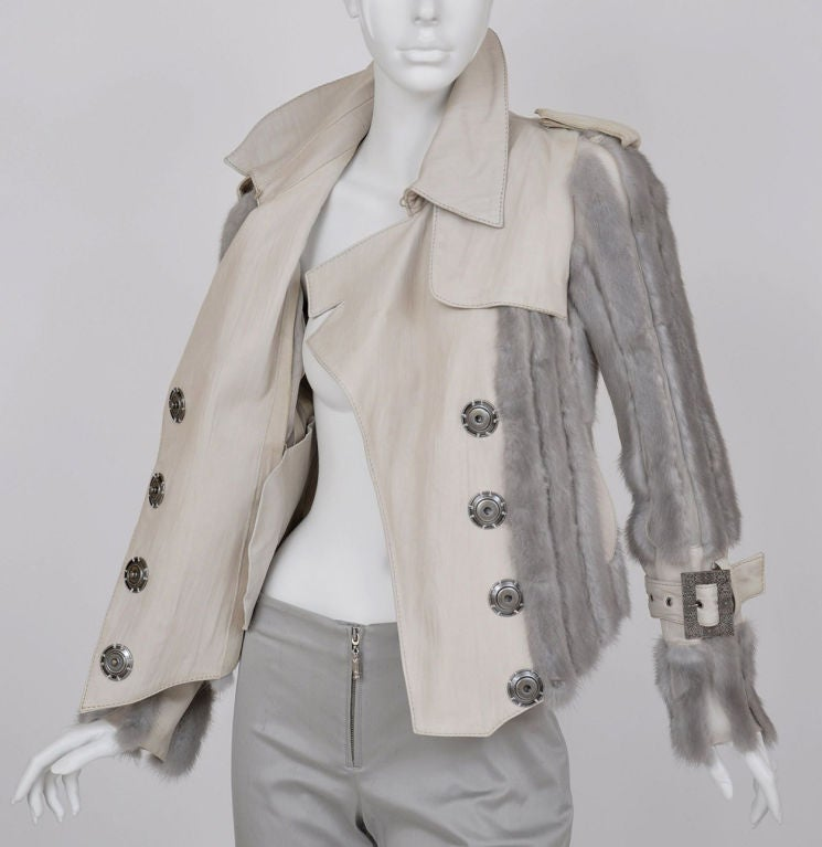Christian Dior mink fur and lambskin jacket image 7