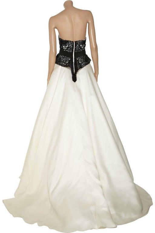 $10,730 MARCHESA Laser-cut silk-twill and organza gown 3