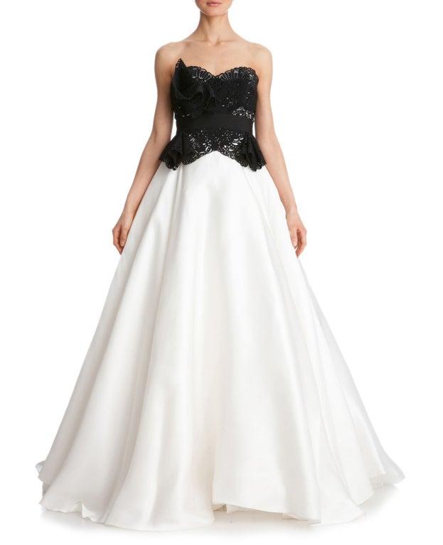 $10,730 MARCHESA Laser-cut silk-twill and organza gown 5