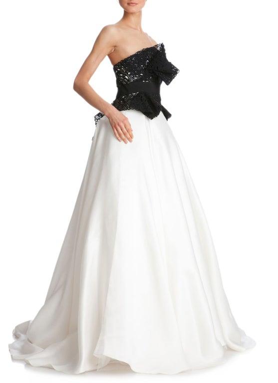 $10,730 MARCHESA Laser-cut silk-twill and organza gown 6