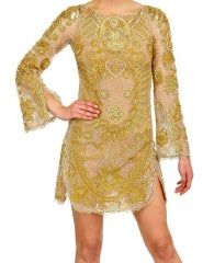 Celeb's Fave Emilio Pucci Sequin Silk Tulle Dress with Scull thumbnail 2