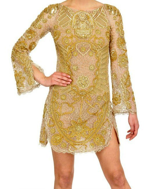 Celeb's Fave Emilio Pucci Sequin Silk Tulle Dress with Scull image 2