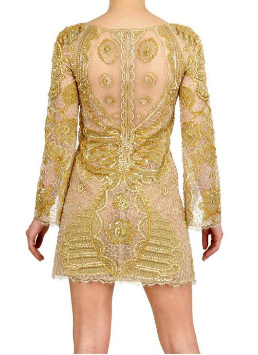 Celeb's Fave Emilio Pucci Sequin Silk Tulle Dress with Scull image 3