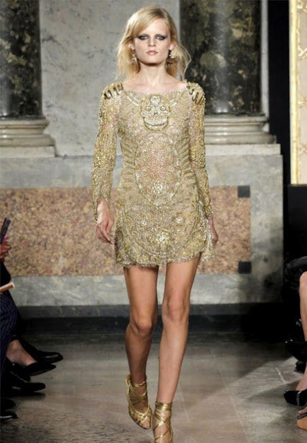 Celeb's Fave Emilio Pucci Sequin Silk Tulle Dress with Scull image 7