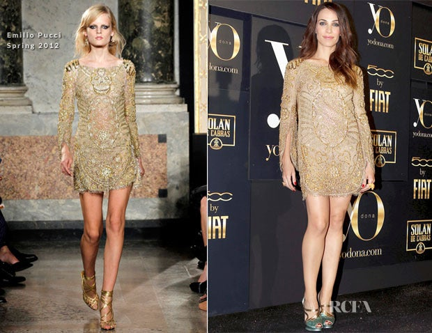 Celeb's Fave Emilio Pucci Sequin Silk Tulle Dress with Scull 8