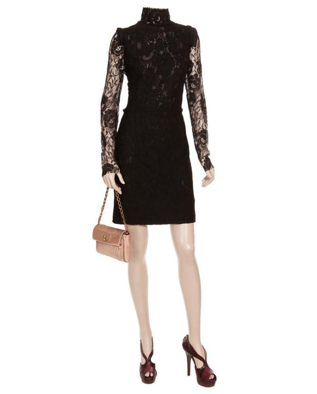 Lanvin Black Lace Dress Katie Holmes wore for Vogue cover 2