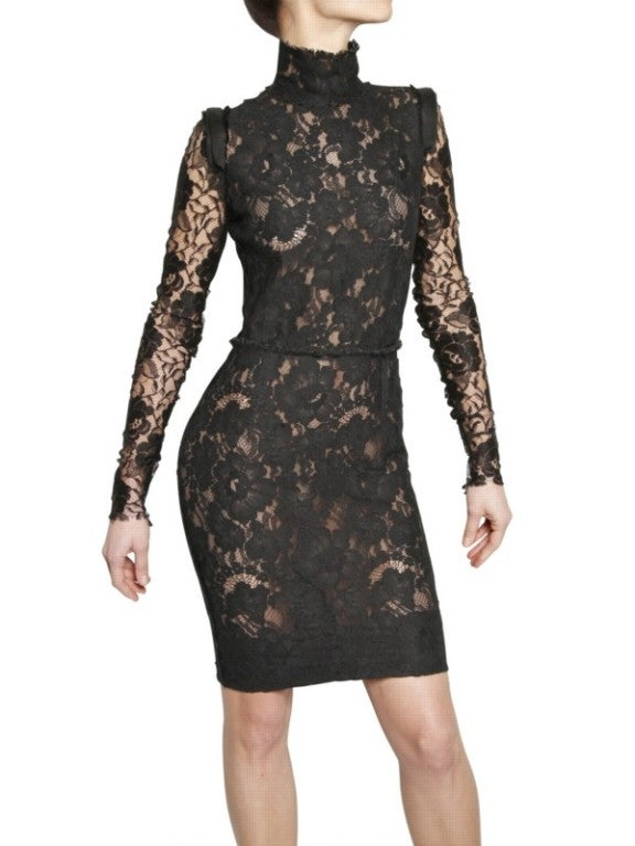 Lanvin Black Lace Dress Katie Holmes wore for Vogue cover 4