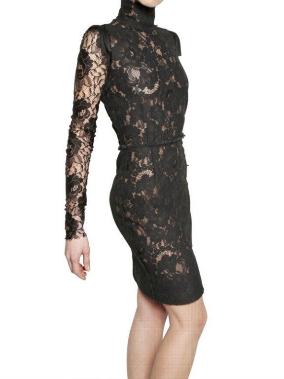 Lanvin Black Lace Dress Katie Holmes wore for Vogue cover image 5