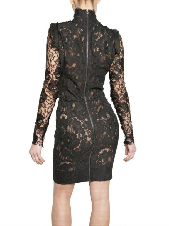 Lanvin Black Lace Dress Katie Holmes wore for Vogue cover 6
