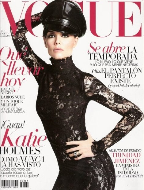 Lanvin Black Lace Dress Katie Holmes wore for Vogue cover 8