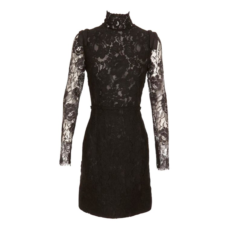 Lanvin Black Lace Dress Katie Holmes wore for Vogue cover 1