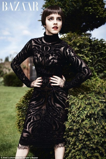 The sweeping organic lines that define the Emilio Pucci aesthetic delight and beguile, but a lace, chiffon, and bordeaux velvet-embroidered dress is something that defies explanation—its pure, expressive creativity will have people buzzing about the