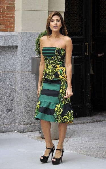 PRADA STRAPLESS BAROQUE PRINTED DRESS image 7