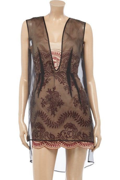STELLA MCCARTNEY embroidered organza dress 38 - 2 **LIV wore too 2