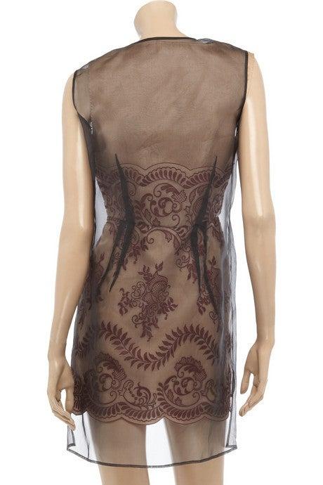 STELLA MCCARTNEY embroidered organza dress 38 - 2 **LIV wore too 3