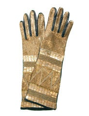 Roberto Cavalli Nappa leather gloves with sequined embroidery