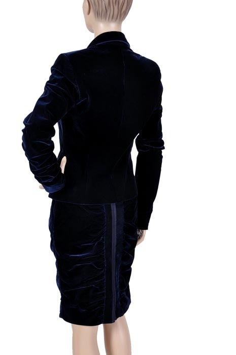 TOM FORD for YVES SAINT LAURENT BLUE VELVET SUIT For Sale 1