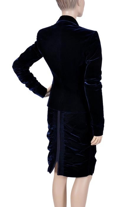 TOM FORD for YVES SAINT LAURENT BLUE VELVET SUIT For Sale 2