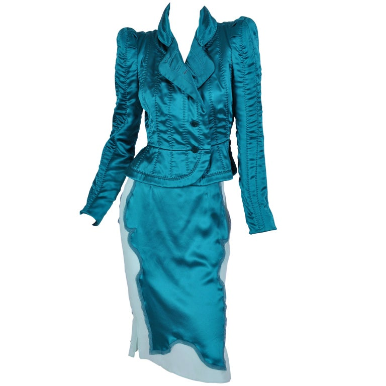 TOM FORD for YVES SAINT LAURENT PAGODA JACKET AND SKIRT 1