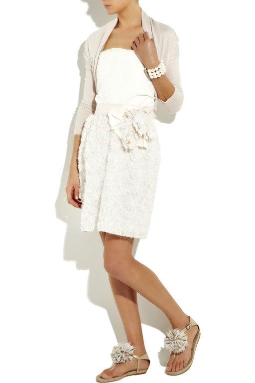LANVIN Silk rosette-detailed Bustier Dress 4