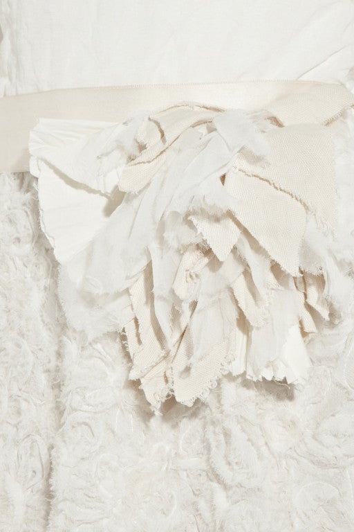 LANVIN Silk rosette-detailed Bustier Dress 6