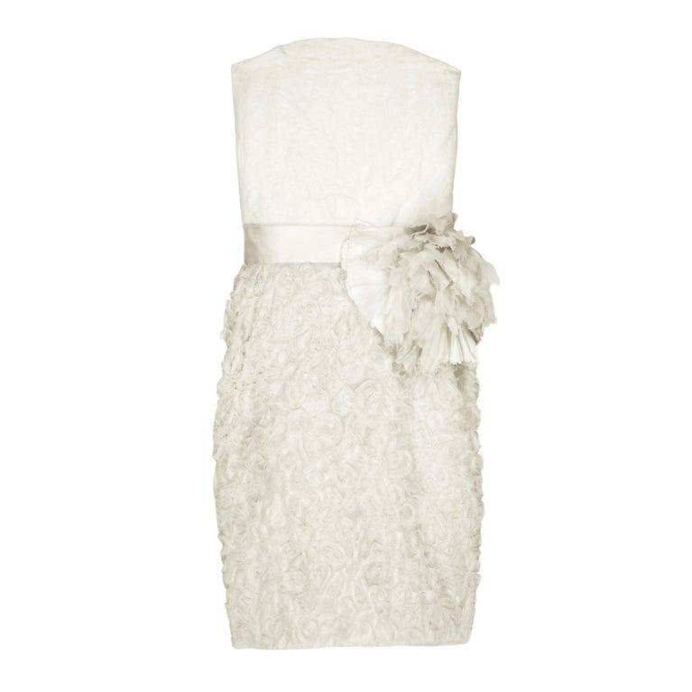 LANVIN Silk rosette-detailed Bustier Dress 1