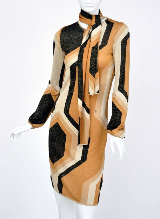 Beige Tom Ford for Gucci Fall/Winter 2000 Kaleidoscope Dress For Sale
