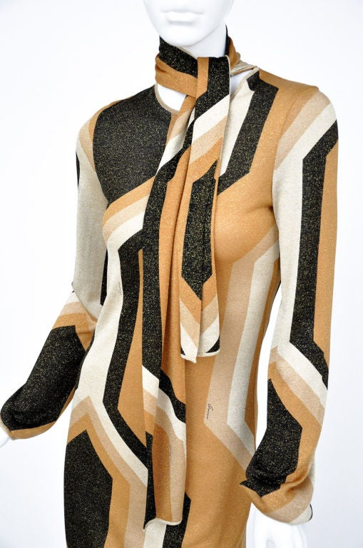 Tom Ford for Gucci Fall/Winter 2000 Kaleidoscope Dress In Excellent Condition For Sale In Montgomery, TX