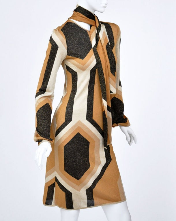 Tom Ford for Gucci Fall/Winter 2000 Kaleidoscope Dress For Sale 1