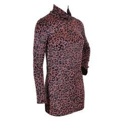 GUCCI ANIMAL PRINT FULLY BEADED MINI DRESS Size 40