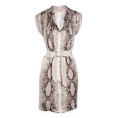 LANVIN Python-print silk dress