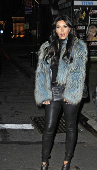 Versace Couture Blue Fox Fur Jacket  *Kim's Fave* 8