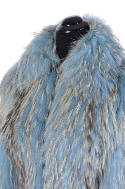 Versace Couture Blue Fox Fur Jacket  *Kim's Fave* 2
