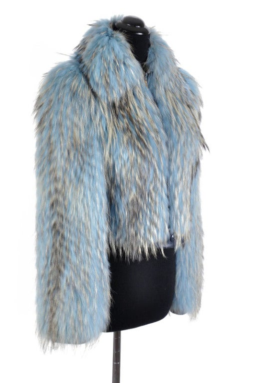 Versace Couture Blue Fox Fur Jacket  *Kim's Fave* 3