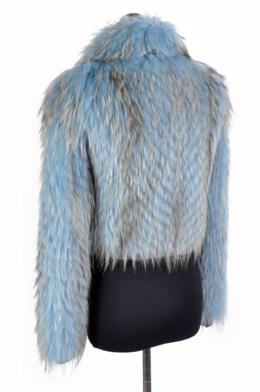 Versace Couture Blue Fox Fur Jacket  *Kim's Fave* 5