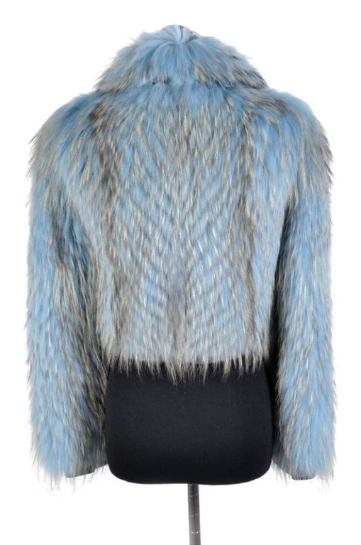 Versace Couture Blue Fox Fur Jacket  *Kim's Fave* 6
