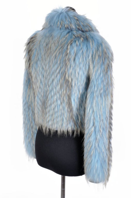 Versace Couture Blue Fox Fur Jacket  *Kim's Fave* 7