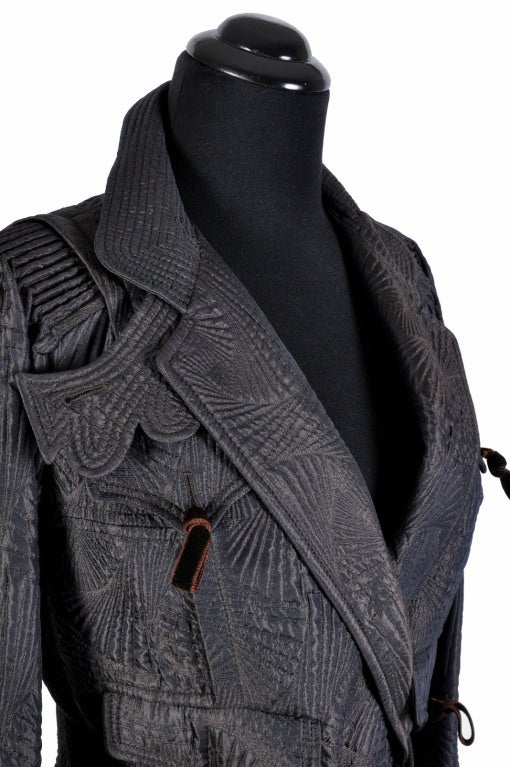 Black TOM FORD for YVES SAINT LAURENT PAGODA JACKET For Sale