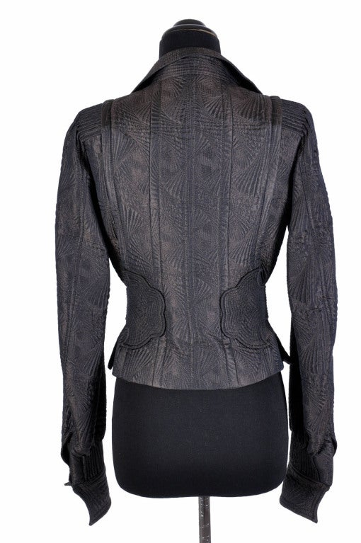 TOM FORD for YVES SAINT LAURENT PAGODA JACKET In Excellent Condition For Sale In Montgomery, TX