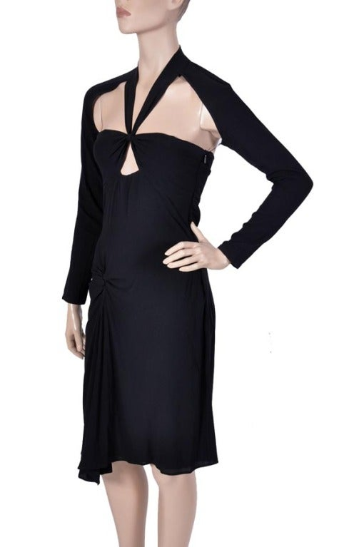 TOM FORD for GUCCI BLACK DRESS In Excellent Condition For Sale In Montgomery, TX