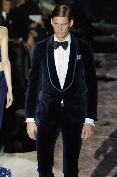 MUSEUM OWNED! TOM FORD for GUCCI MEN S BLUE VELVET TUXEDO SUIT at ... fe5ccd26212