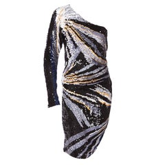 Emanuel Ungaro One Shoulder Sequin Dress From the Closet of Vivica Fox