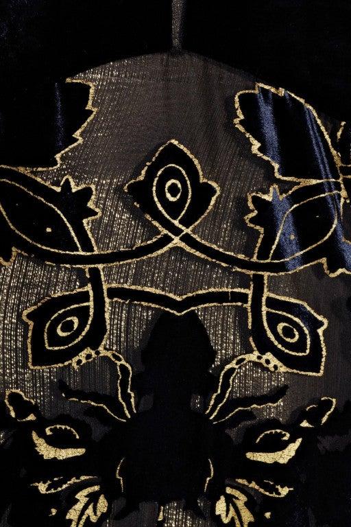 ROBERTO CAVALLI Blue Devoré-velvet Gown image 5