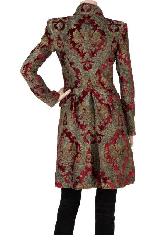$19,765 New BALMAIN Brocade military coat 36 - 4 3