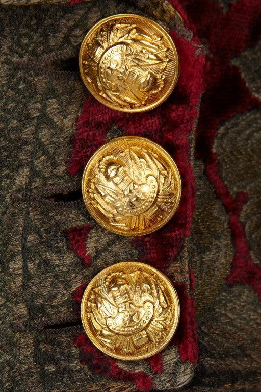 $19,765 New BALMAIN Brocade military coat 36 - 4 5