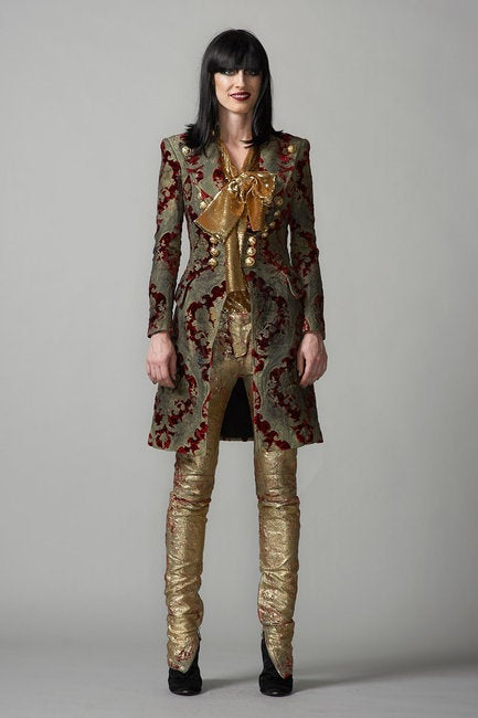 $19,765 New BALMAIN Brocade military coat 36 - 4 7